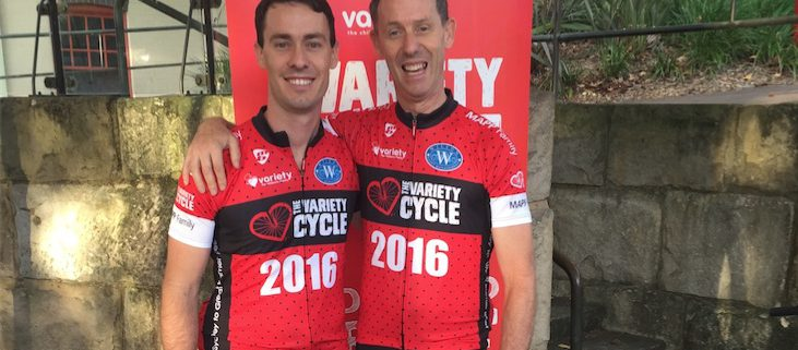 Vitalcare participating in The Variety Cycle event