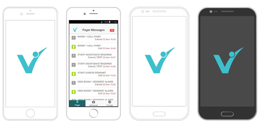 Vitalcare's Daisy nurse call system reports to iOS and Android smartphones
