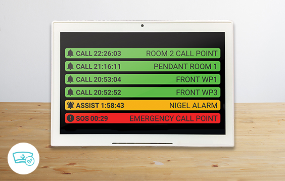 Flora Desktop nurse call system for small facilities